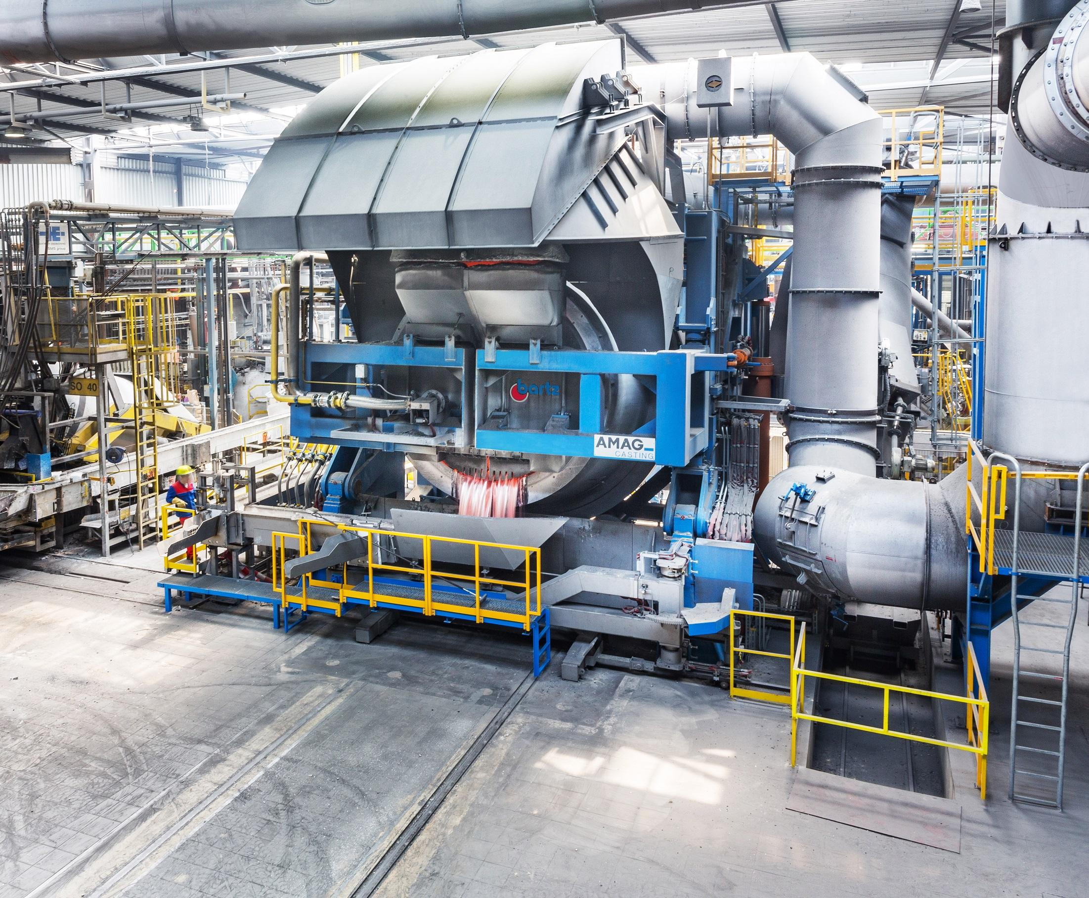 world's largest tilting-rotary melting furnace at AMAG casting enables us to deliver high-quality cast alloys