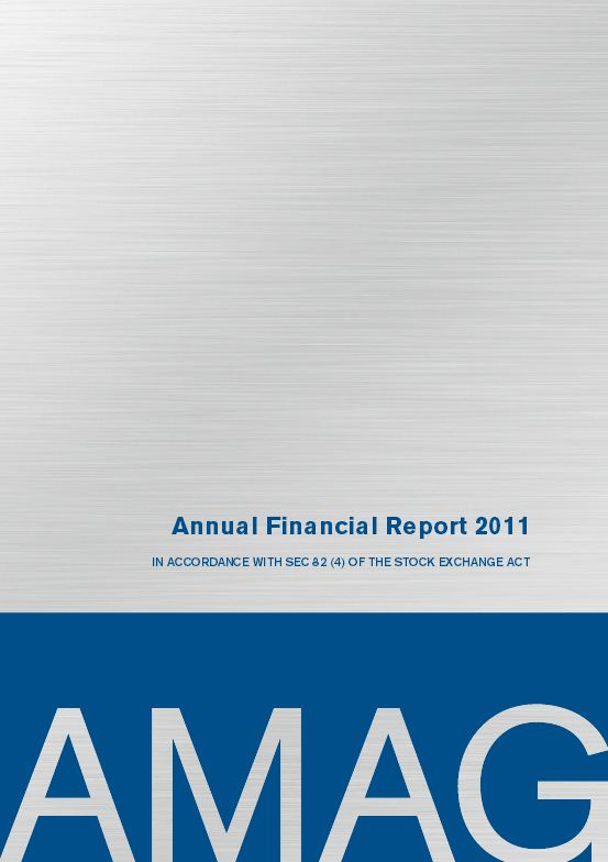 Annual Financial Report 2011