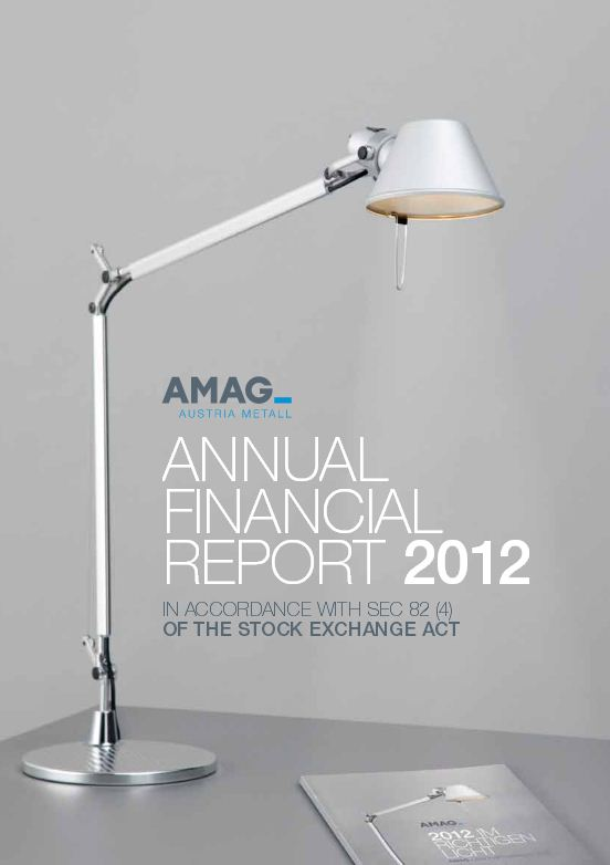 Annual Financial Report 2012