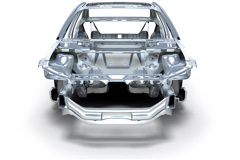 One of the many possible applications of AMAG aluminum: automotive body-in-white
