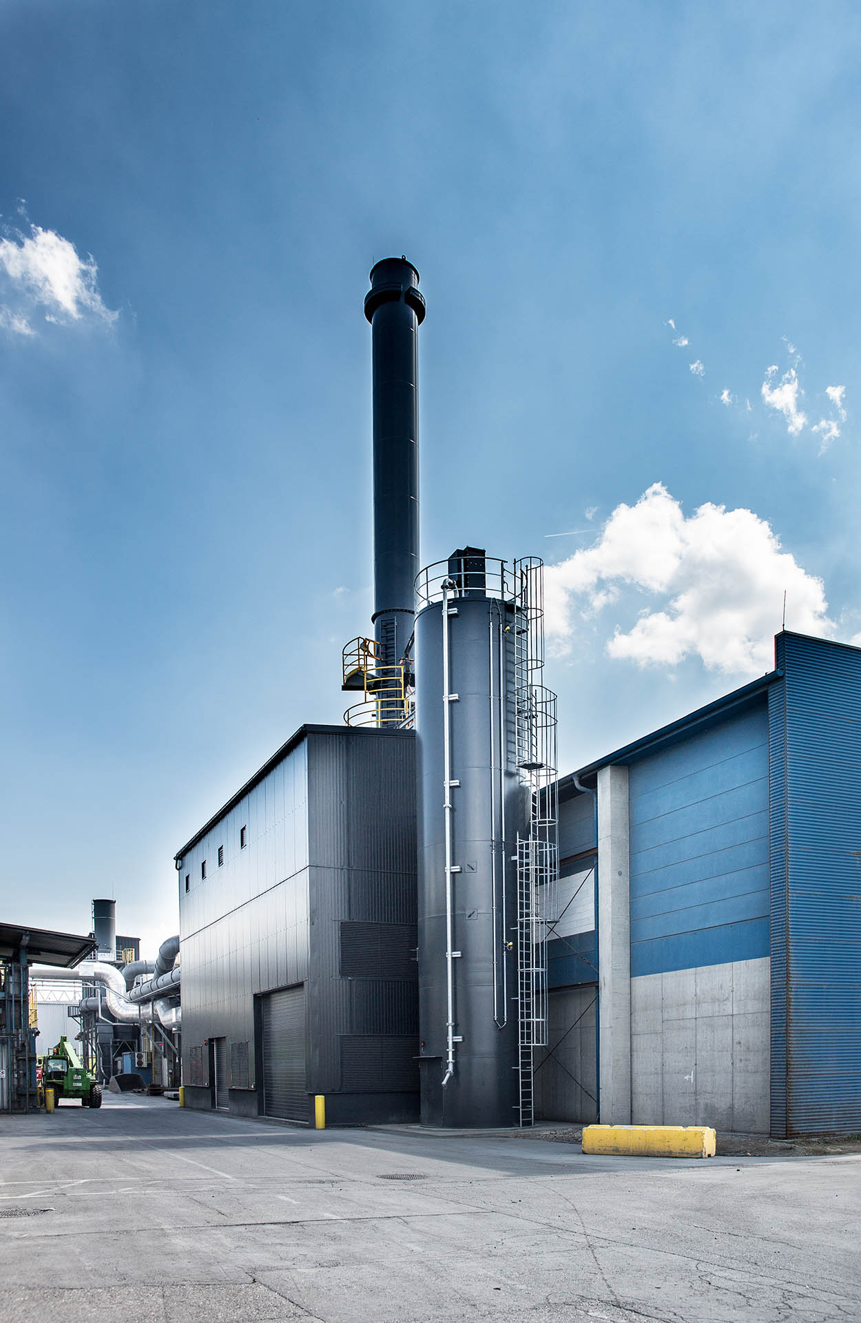 The baghouse system in the new melting furnace meets the highest environmental standards - AMAG casting foundry alloys